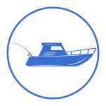 Image of sports fishing charter boat