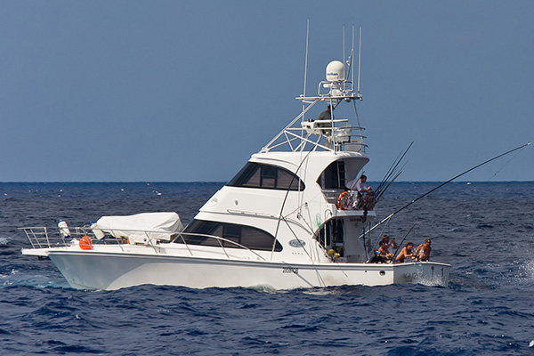 Image of our fishing charter vessel the Kaizen52